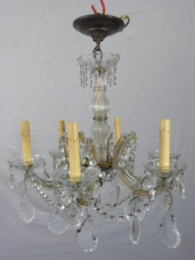 Vintage Strauss Crystal Chandelier
