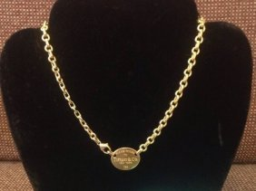 Return To Tiffany & Co 18kt Yellow Gold Necklace