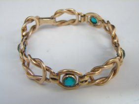 Antique Estate Ladies Gold Filled Robe Bracelet