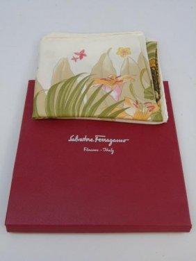 Salvatore Ferragamo Silk Scarf In Original Box