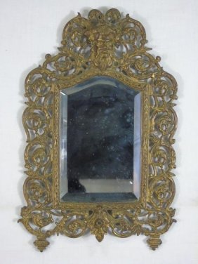 Small Antique 19th C Bradley & Hubbard Mirror