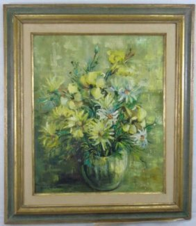 Ann Cochran Signed Floral Still Life Oil Painting