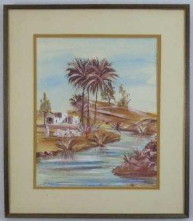 Sello - Coastal Landscape Watercolor Painting