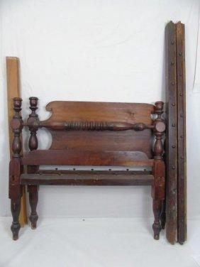 Antique American Empire Head Board Foot Board