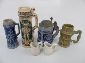 Antique Dollhouse Miniature German Beer Steins