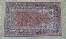 Silk & Wool Hand Woven Oriental Persian Prayer Rug
