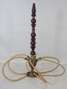 Vintage Middle Eastern Hookah W/ Smoking Pieces