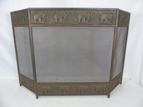 Contemporary Modern Elephant Fireplace Screen