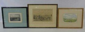 3 Framed Prints - San Francisco Madrid & New York