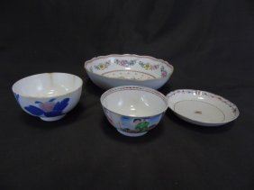 Four Antique Chinese Export Porcelain Bowls