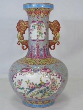 Chinese Large Famille Rose Porcelain Vase