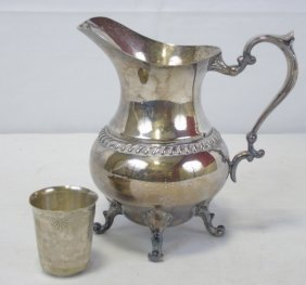Antique Silver Plated Pitcher Cup