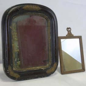 Lot Of 2 Antique 19th C Victorian Mirrors