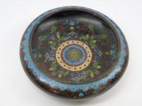 Antique 19th Century Chinese Cloisonne Bowl