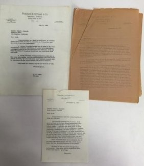 Collection Of 3 Letters To John F Kennedy 1960-62