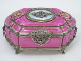 Russian Sterling Diamond & Enamel Bolin Box