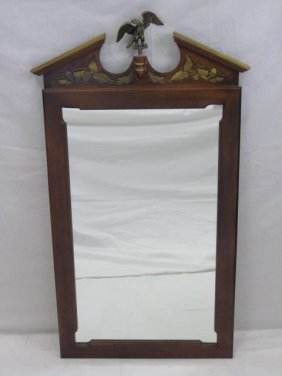 American Federal Style Mirror With Eagle