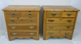 Pair Contemporary Link Taylor Chest Of Drawers