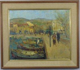 Jacques Van Den Bussche - Street Scene Painting