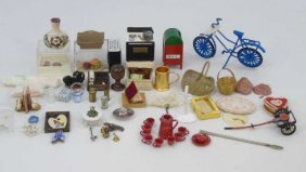 Collection Of Dollhouse Miniature Accessories