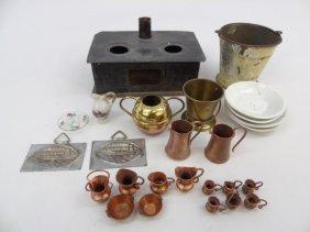 Antique Dollhouse Miniature Kitchen Items