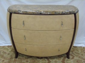 Contemporary Art Deco Style Marble Top Chest