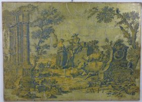 Signed French Provencal Country Toile Wall Plaque