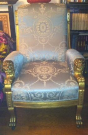Large Antique American Victorian Throne Armchair