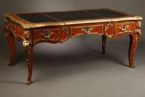 A Louis XV Style Gilt Bronze-mounted Bureau Plat