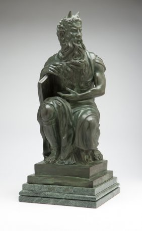 A Continental Patinated Bronze Figure Of ''The Se