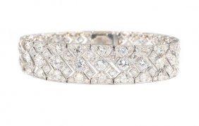 An Early Art Deco Diamond And Platinum Bracelet