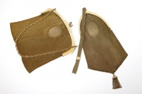 Two Mesh Purses With Gold Frames