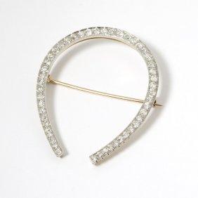 A Diamond Horseshoe Brooch
