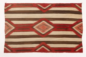 A Navajo Third Phase Chief's Blanket / Rug