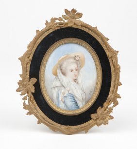A French Framed Miniature Portrait Painting