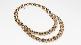 A Retro Gold And Diamond Necklace