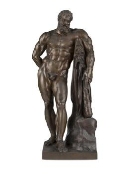 A Patinated Bronze Sculpture Of Heracles