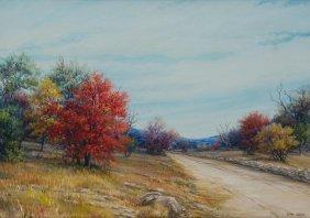 """Exa Wall (1897-1972), """"journey Into Autumn"""", Oil"""