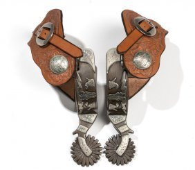Danny Pollard Double-mounted Steer Head Spurs