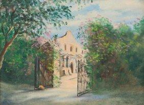 "Grace Dermody (b. 1889), ""the Alamo"", 1939, Oil"