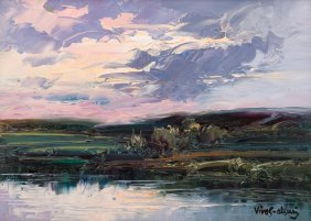 "Jose Vives-atsara (1919-2004), ""sunset, Texas"", 1981"