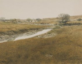 Ronald Thomason (1931-2011), Texas River, Watercolor