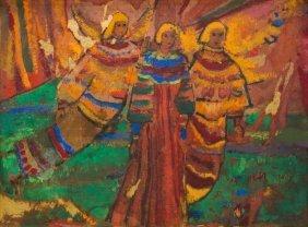 """Margaret Putnam (1913-1989), """"scarlet And Gold"""", 1968"""