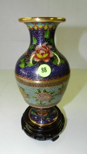 Vintage And Rare 2 Type Of Cloisonne Asian Vase