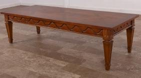 Cherry Parquetry Top Coffee Table