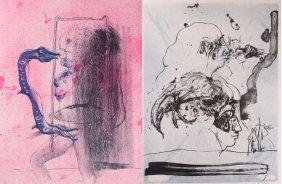 Heinrich Richter Unframed Lithographs, Pair