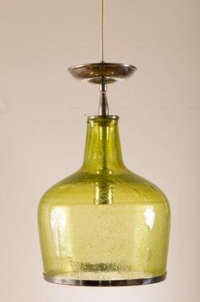 Demijohn Green Glass Ceiling Light
