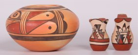 Native American Pottery Collection, Three (3)