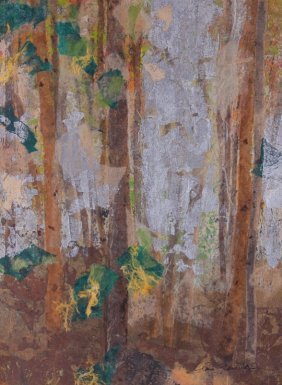 """Clare Ferriter Abstract Collage """"late Fall"""""""