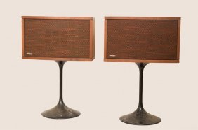 Bose Mid-century Speakers W/ Pedestals, Pair